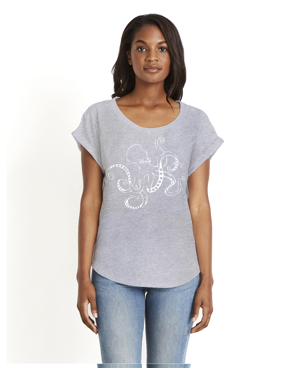 Women's Dolman Sleeve t-shirt (Gray)