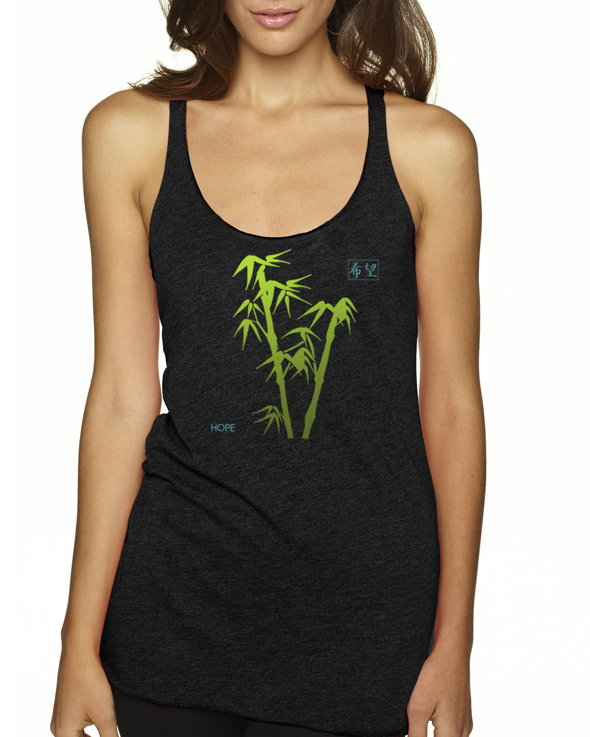 Racer-back tri-blend tank top (Black)