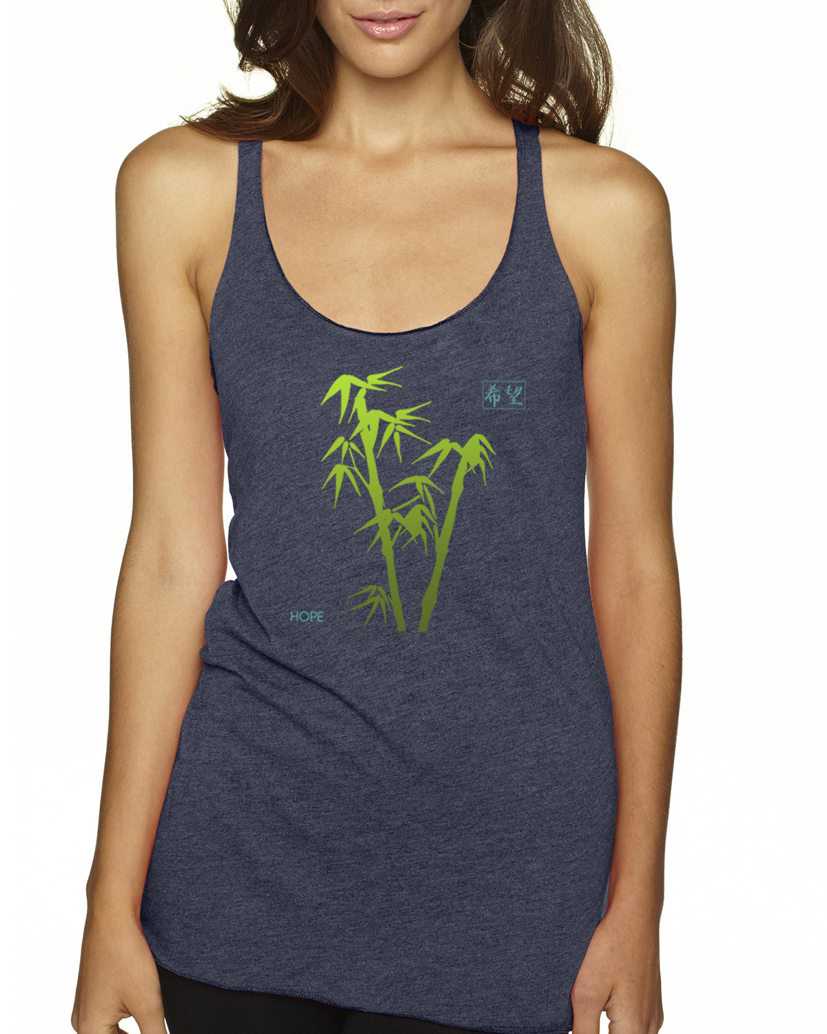Racer-back tri-blend tank top (Indigo)