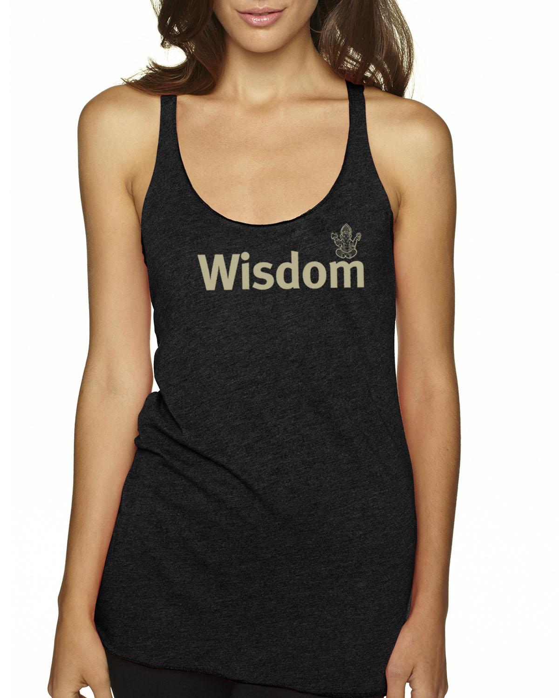 Women's Tri-blend Wisdom Tank Top (Vintage Black)