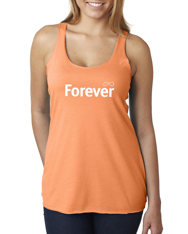 Women's Tri-blend Racer-back tank top (Orange)