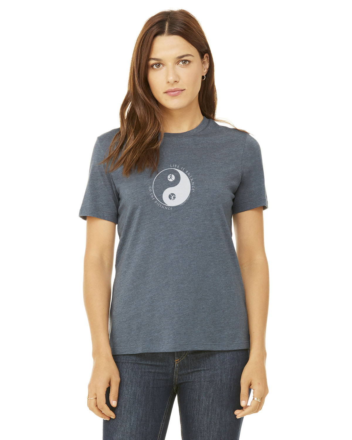 Women's short sleeve t-shirt (Heather Slate)