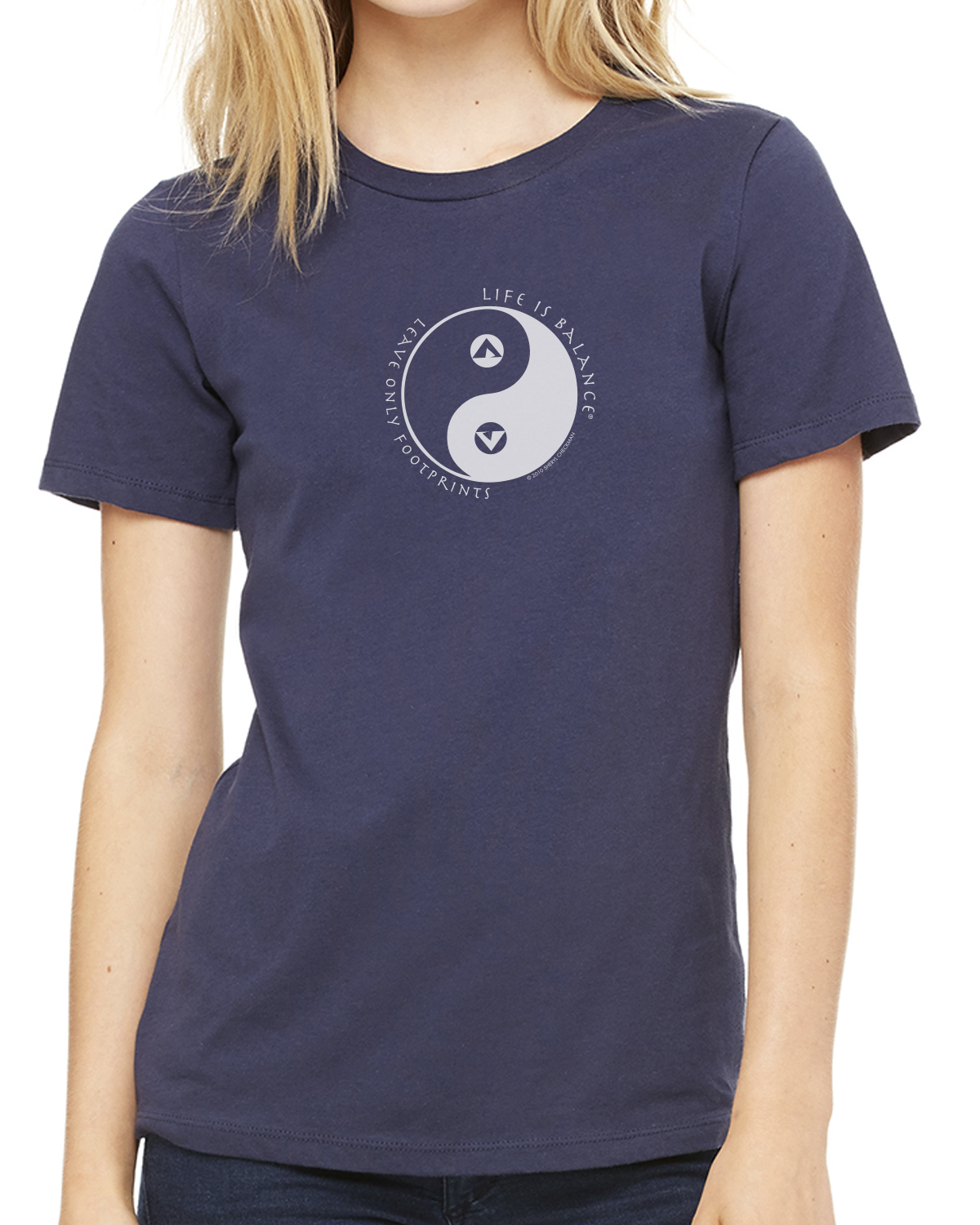 Women's short-sleeve camping t-shirt (Navy)