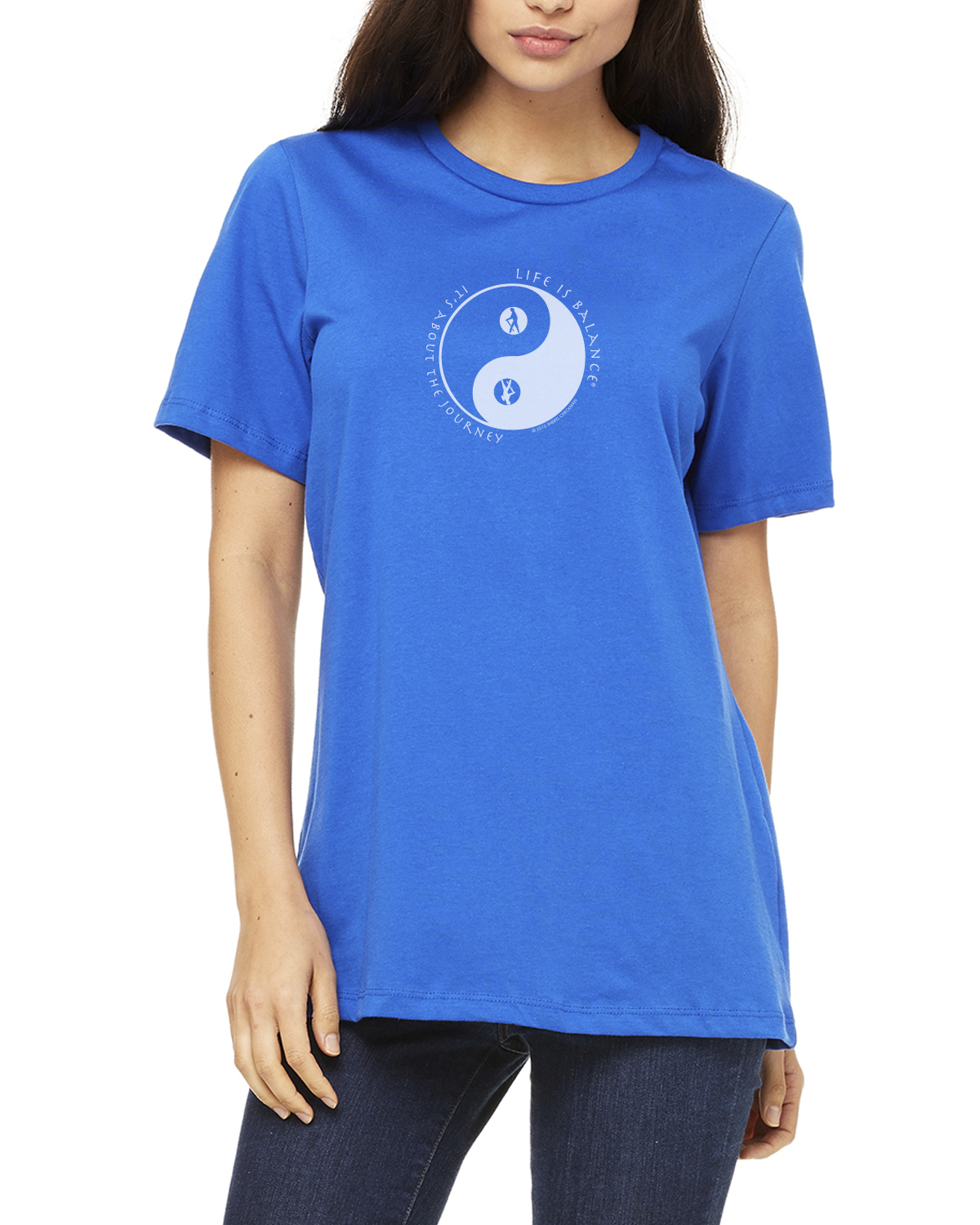 Women's short-sleeve hiking t-shirt (royal)