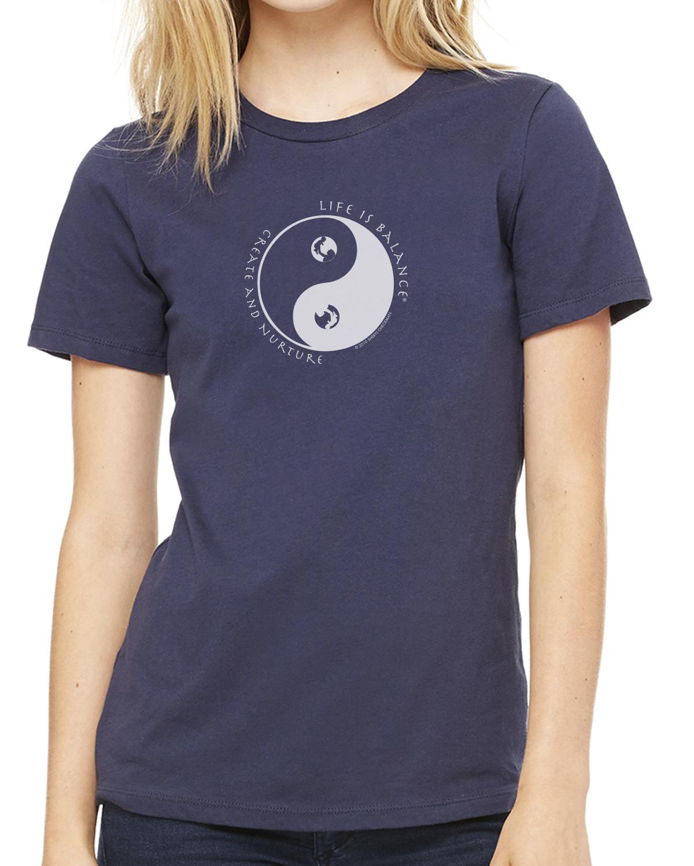 Women's short sleeve parenting t-shirt (navy)