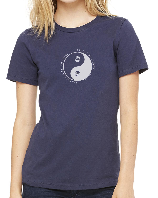 Women's short sleeve theater t-shirt (navy)