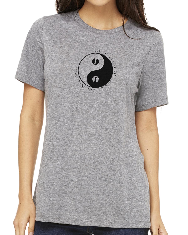 Short sleeve women's crew neck t-shirt (heather gray)