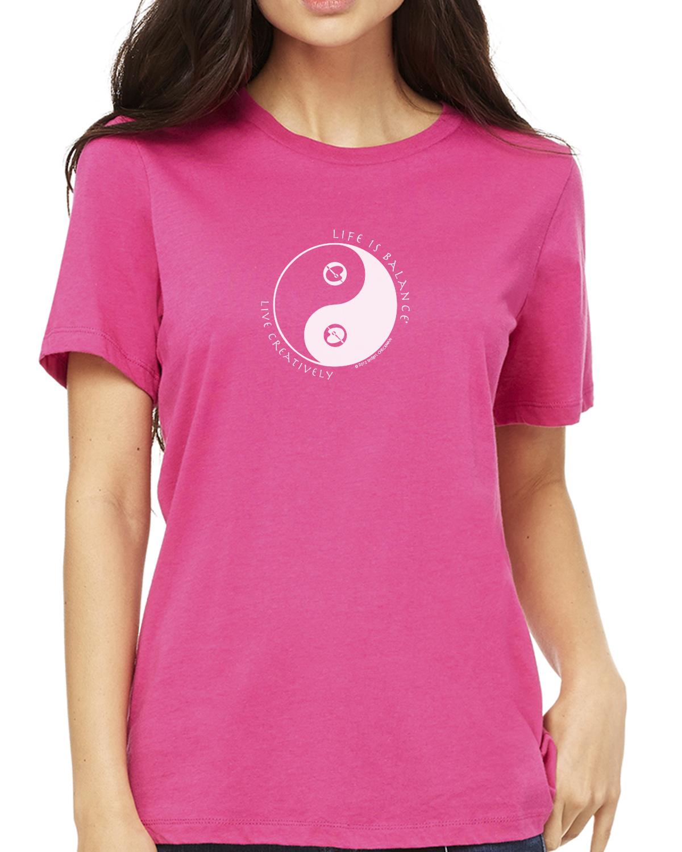 Women's short sleeve artist t-shirt (berry)
