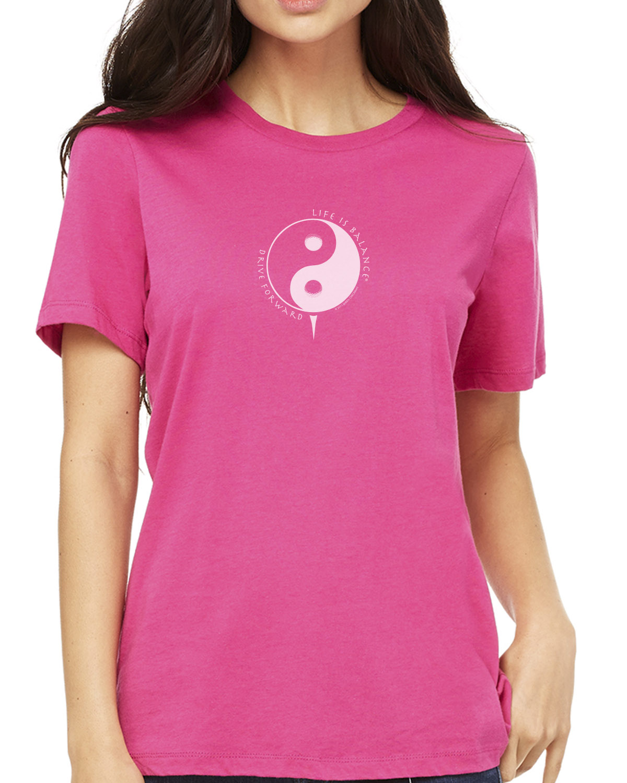 Women's short sleeve crew neck Golf T-shirt (berry)