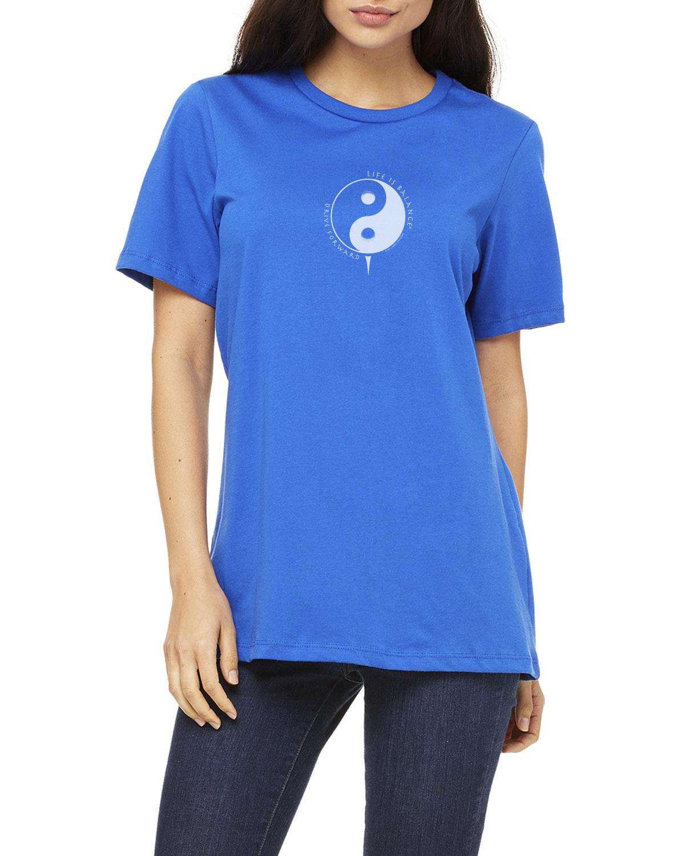 Women's short sleeve crew neck Golf T-shirt (royal)