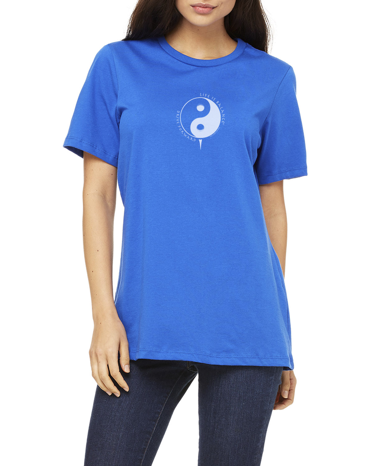 Women's cap sleeve Golf T-shirt (royal)