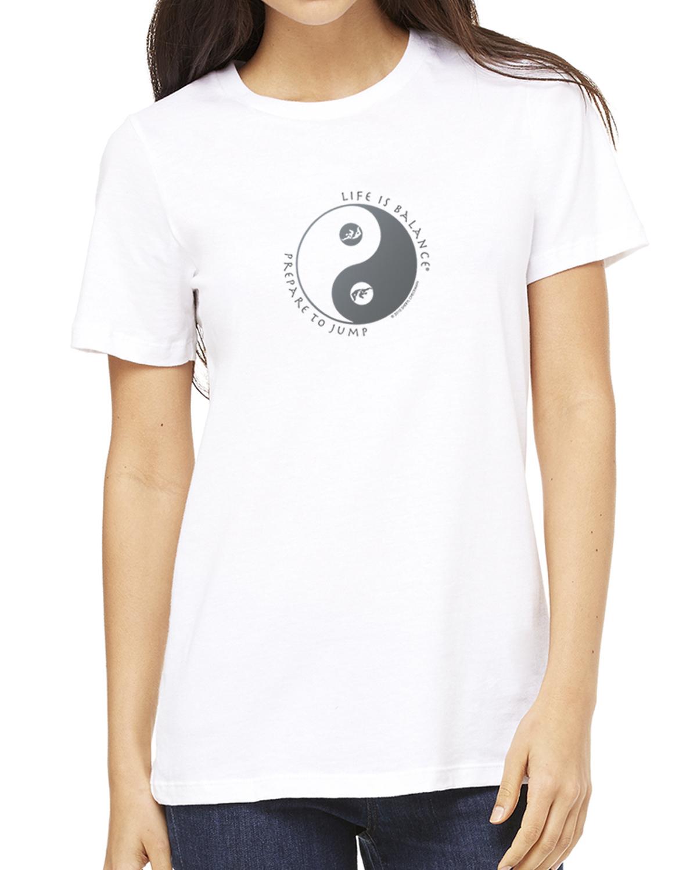 Women's short sleeve skydiving t-shirt (white)