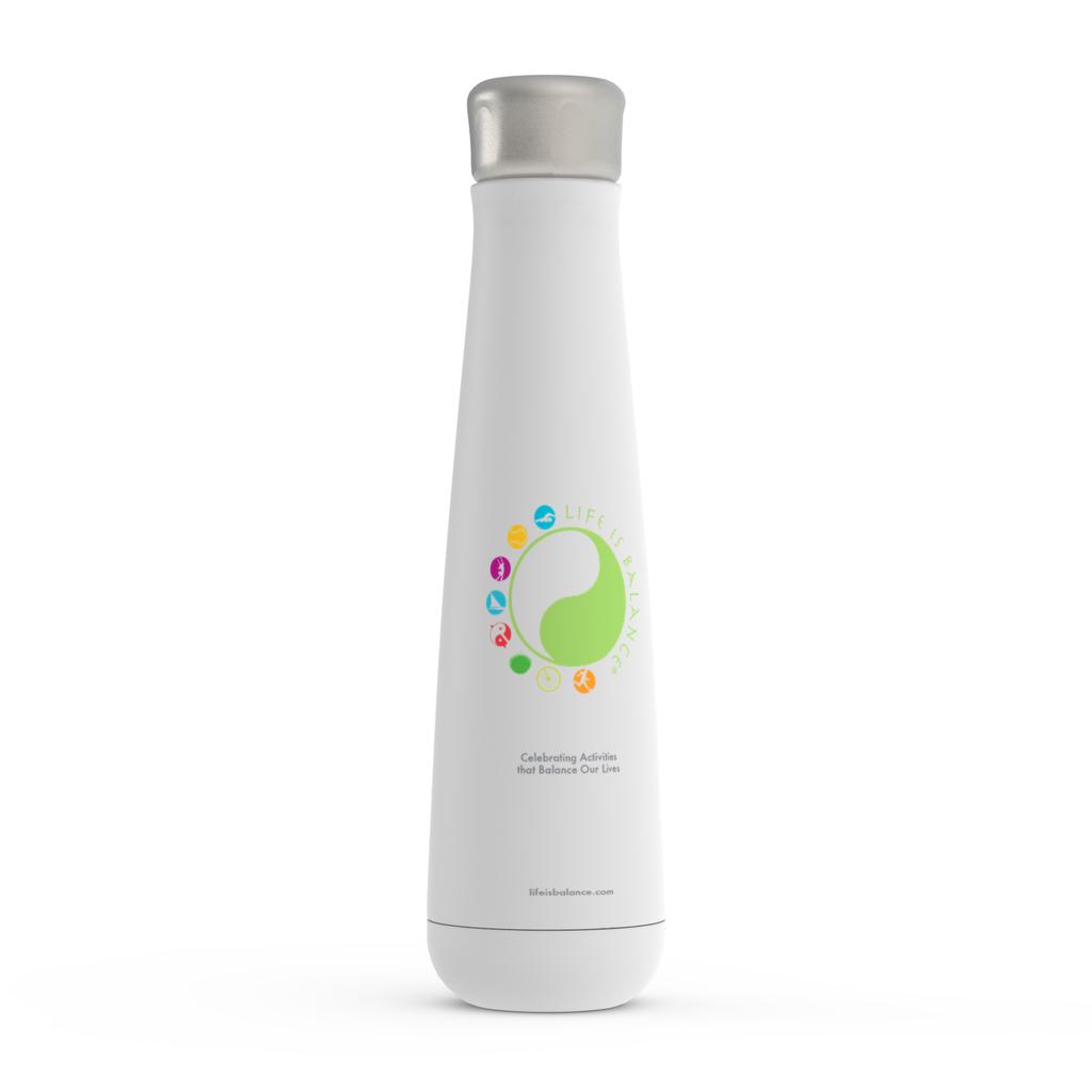Life is Balance Logo Water Bottle (White)