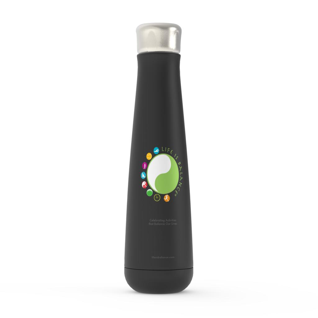 Life is Balance Logo Water Bottle (Black)