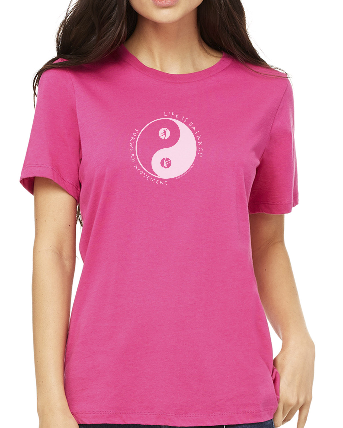 Women's short sleeve dance t-shirt (berry)