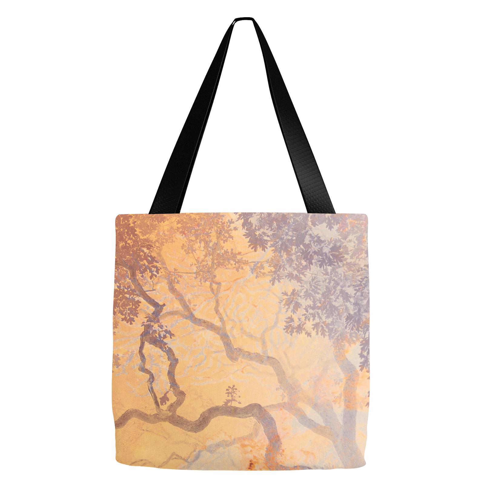 Coral Branches Orange Tote Bag