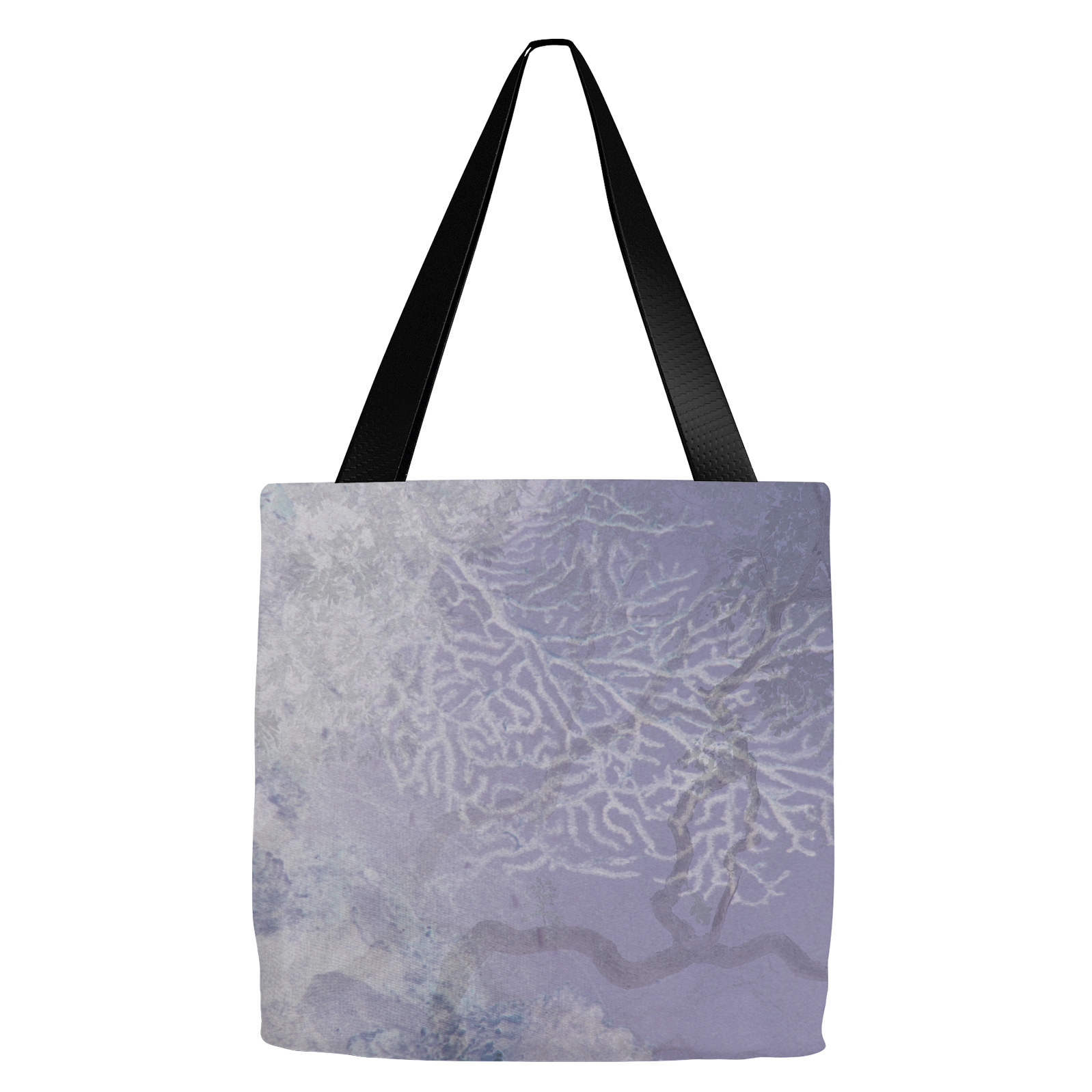 Coral Branches Plum Tote Bag