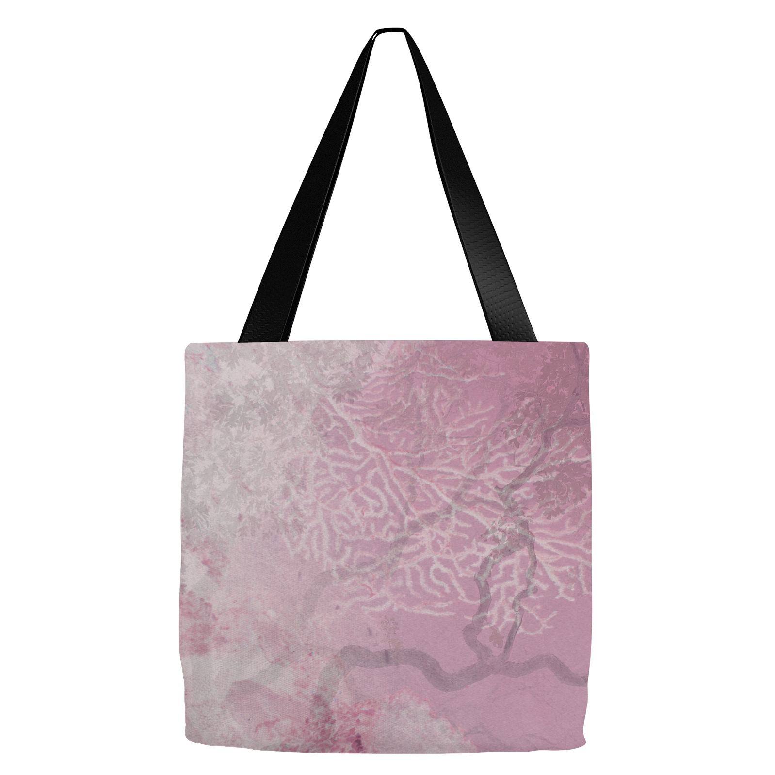 Coral Branches Rose Tote Bag