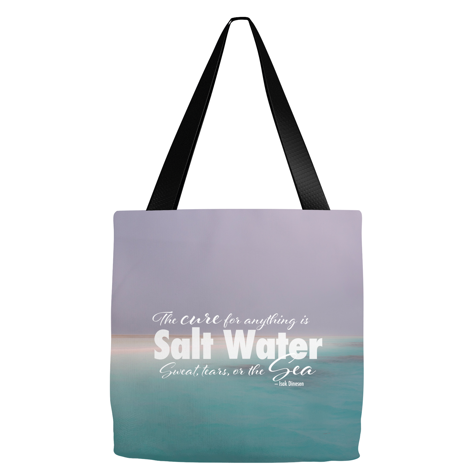 Disappearing Sandbar Salt Water Tote Bag