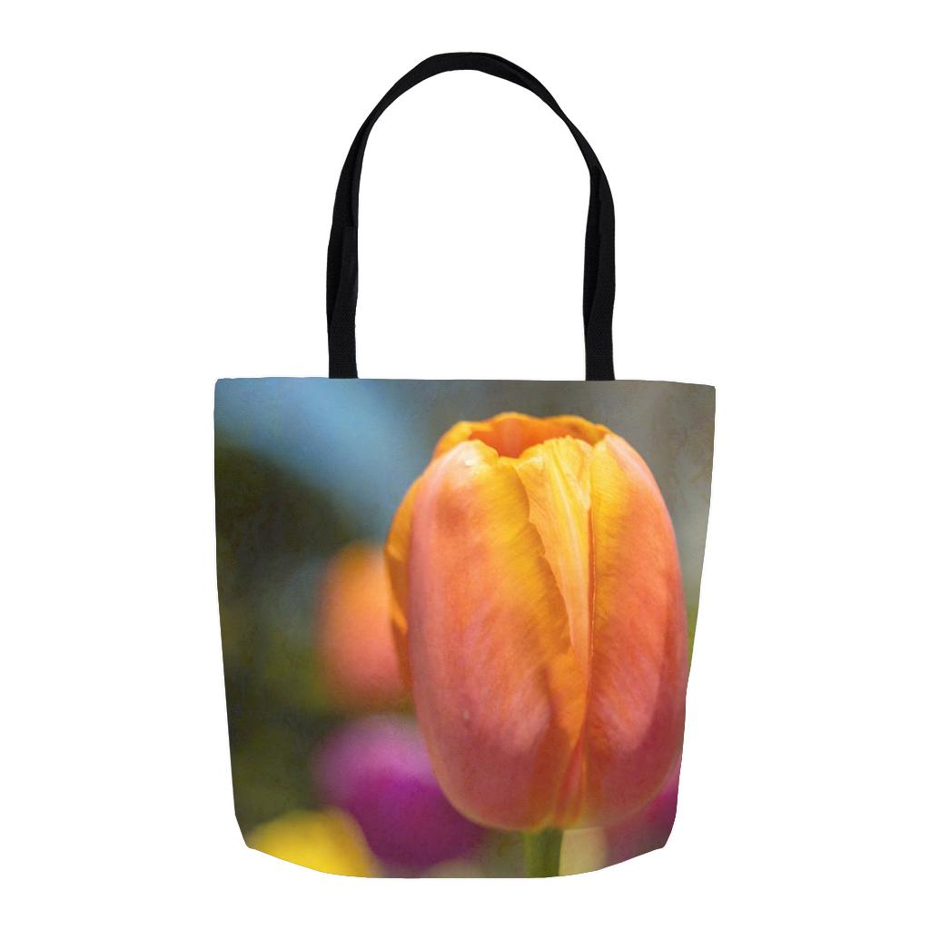 Orange Tulip Tote Bag