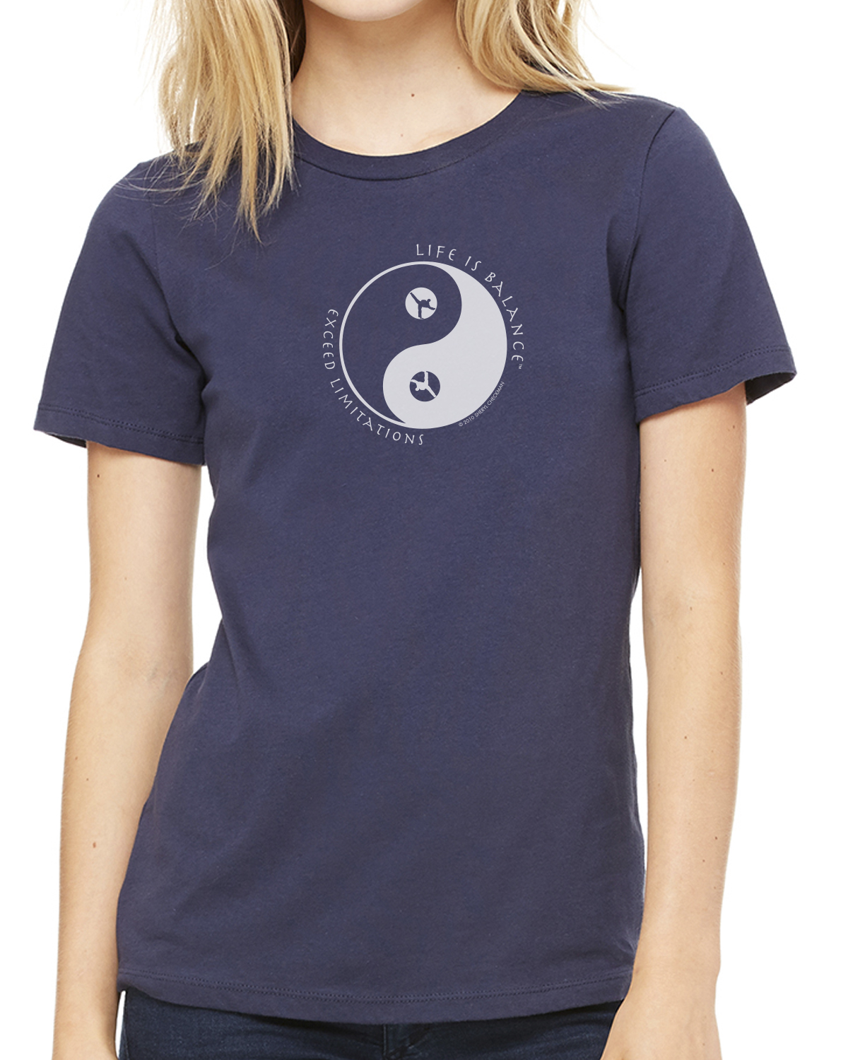 Women's short sleeve martial arts t-shirt (navy)