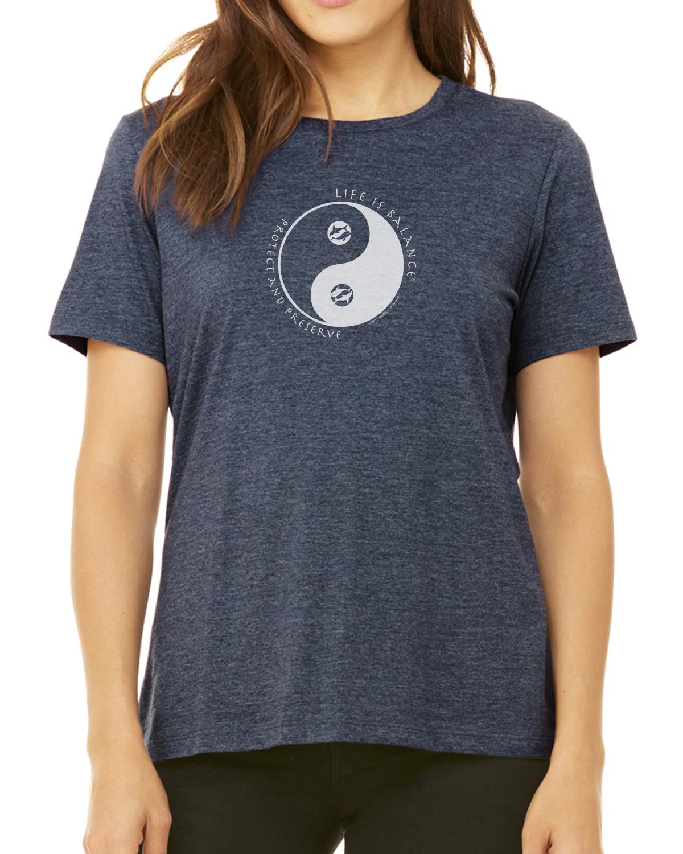 Women's short sleeve Ocean lover t-shirt (heather navy)