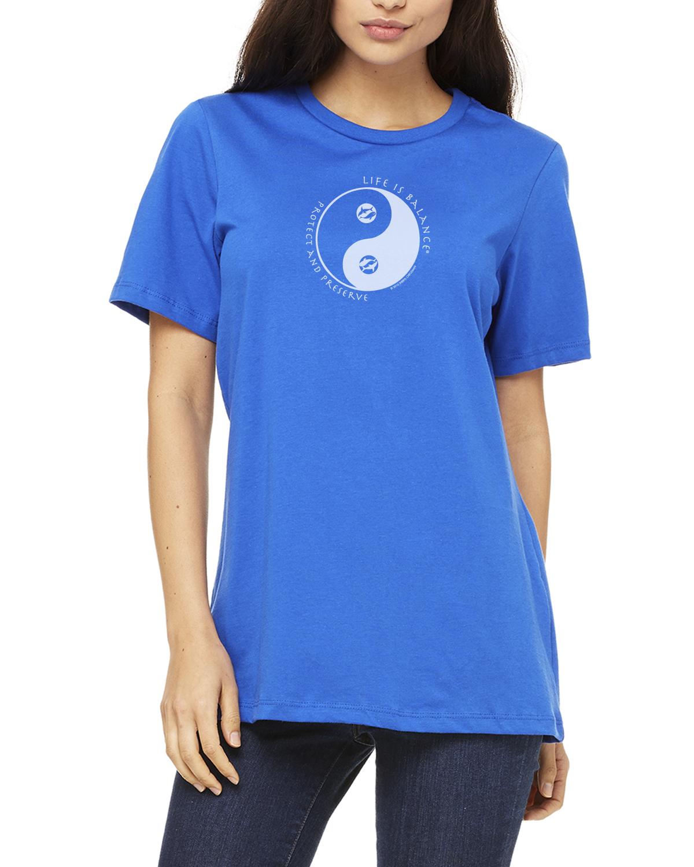 Women's short sleeve Ocean lover t-shirt (royal)