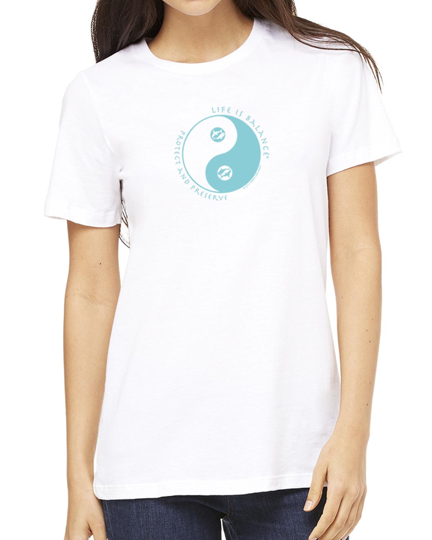 Women's short sleeve Ocean lover t-shirt (white)