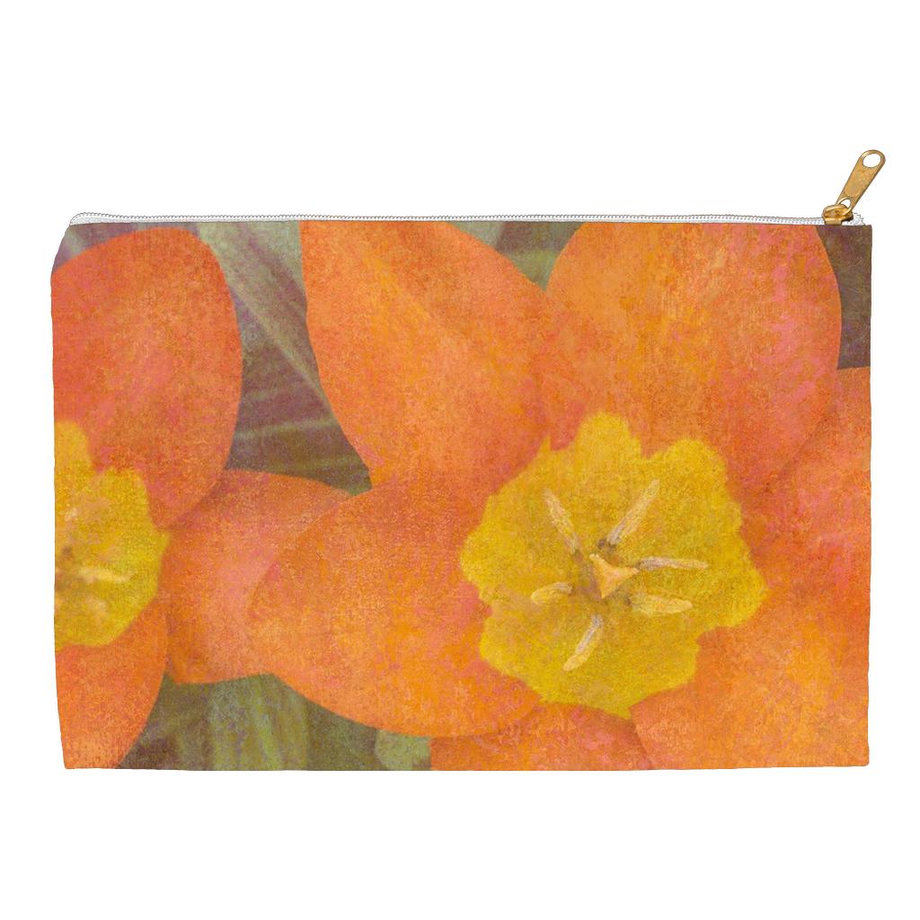 Orange Tulips Accessory Pouch