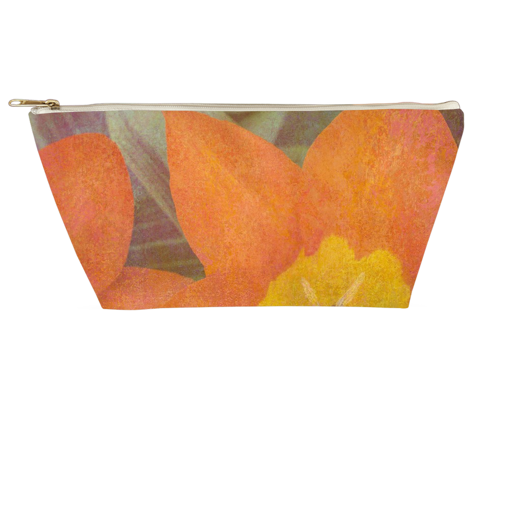 Orange Tulips T-bottom Pouch