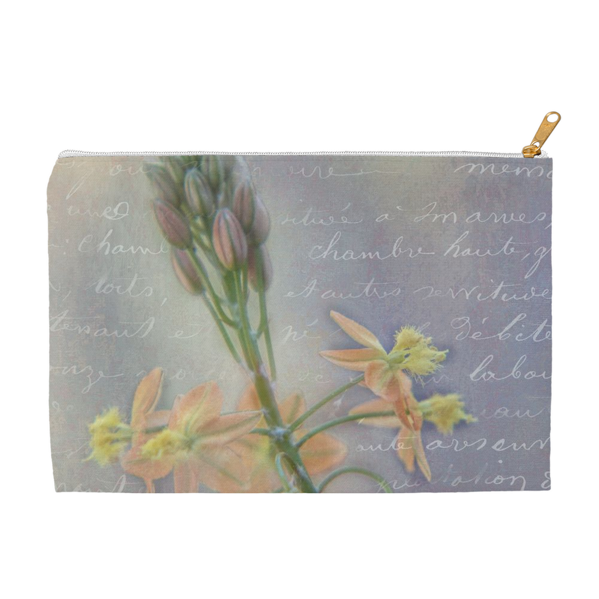 French Floral Accessory Pouch