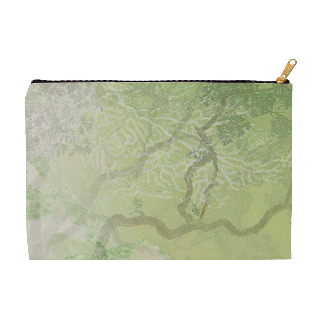 Coral Branches Green Accessory Pouch