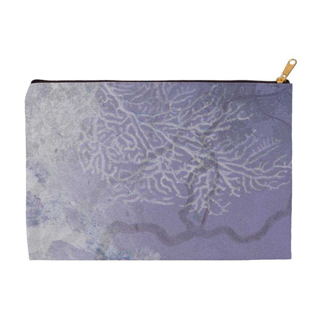 Coral Branches Plum Accessory Pouch