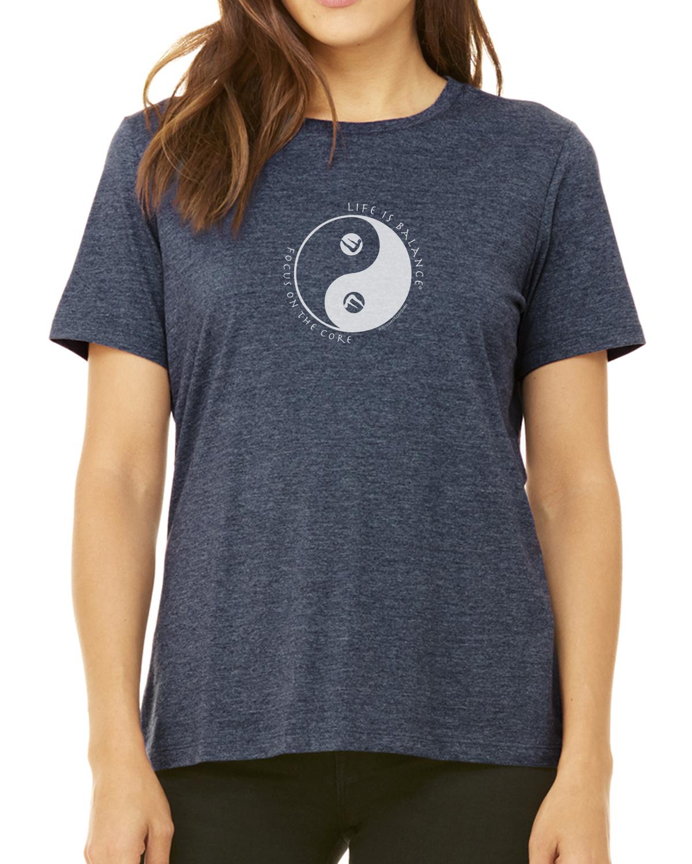 Pilates T-Shirt for Women (Heather Navy)