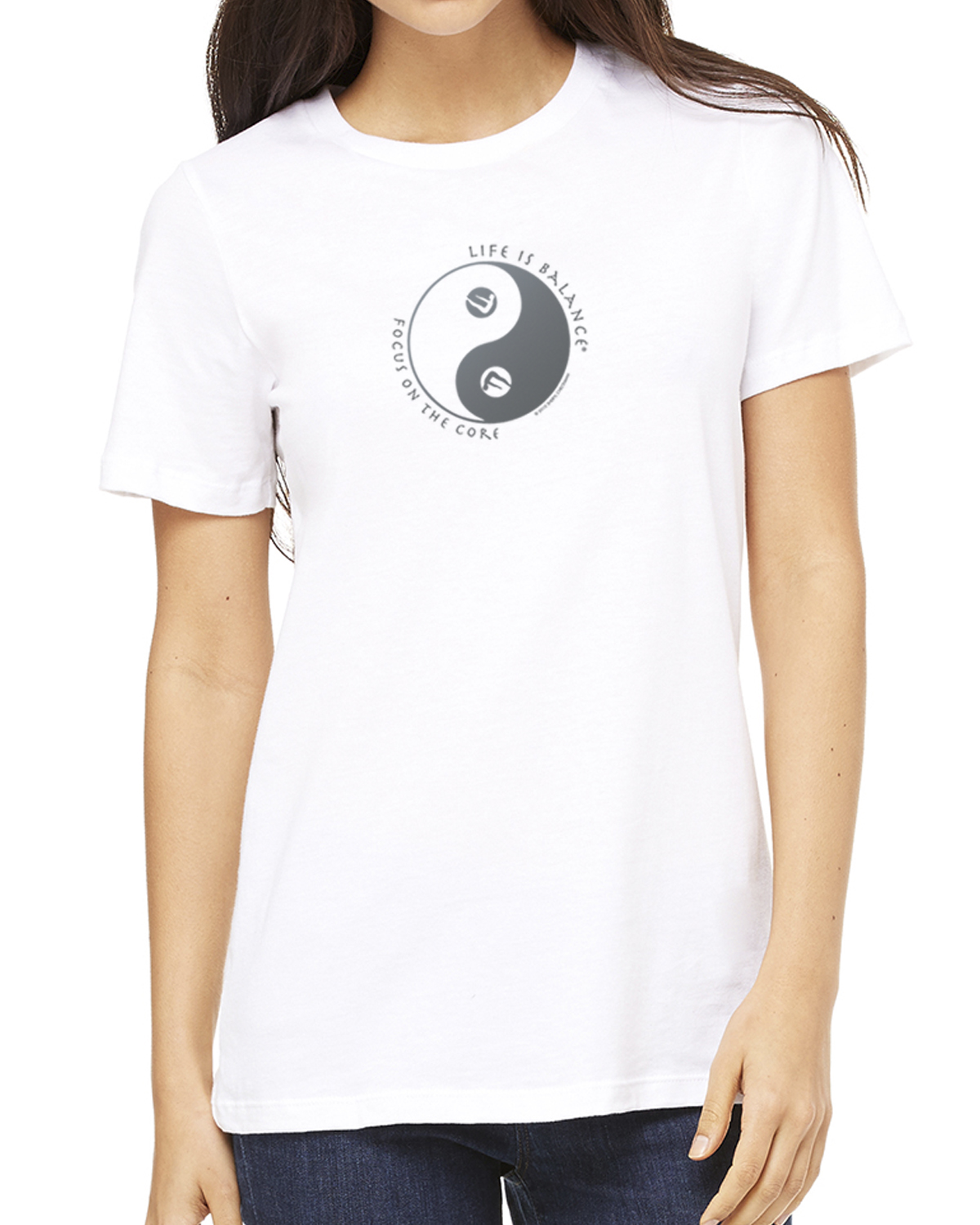 Pilates T-Shirt for Women (White)