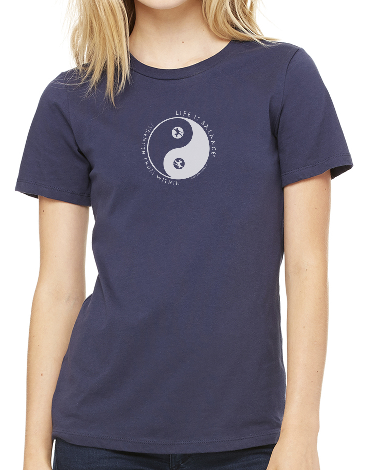 Women's short sleeve Tai Chi T-shirt (navy)
