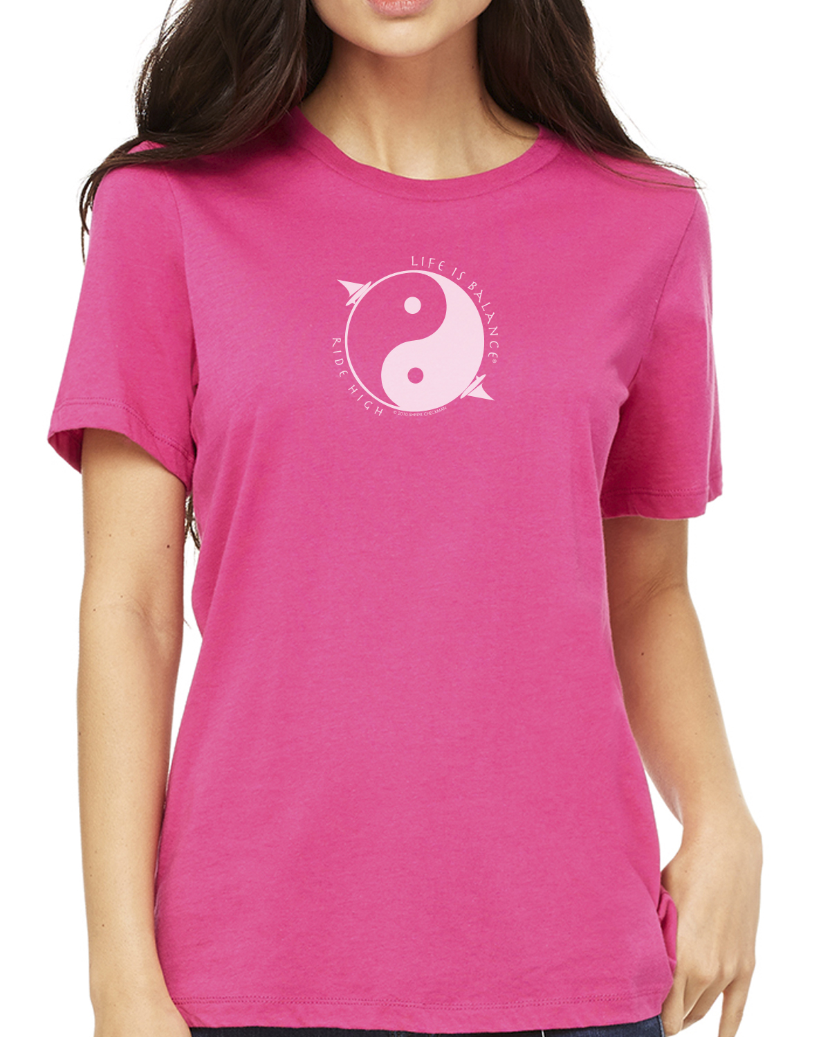 Women's short sleeve windsurfing t-shirt (berry)