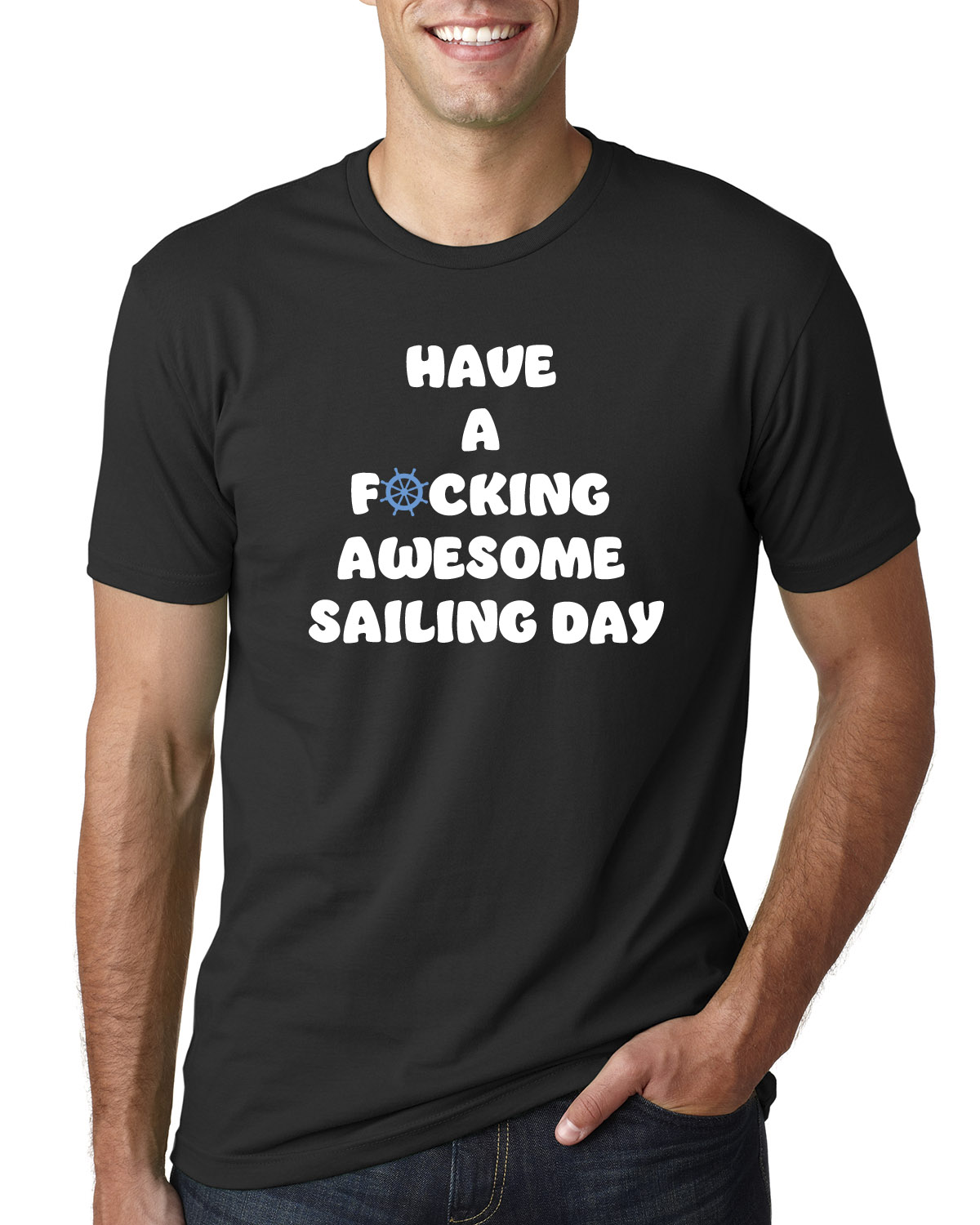 Men's Have a F*cking Awesome Sailing Day t-shirt (black)