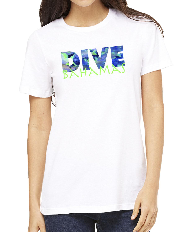 Women's Dive Bahamas crew neck (white)
