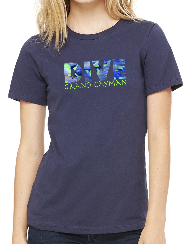 Women's DIVE Grand Cayman short sleeve crew neck (navy)