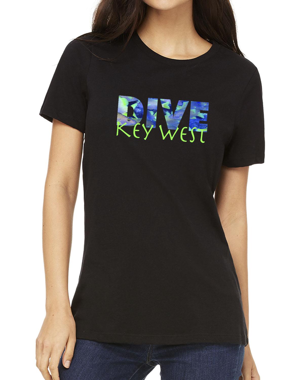 Women's short sleeve DIVE Key West crew neck (Black)