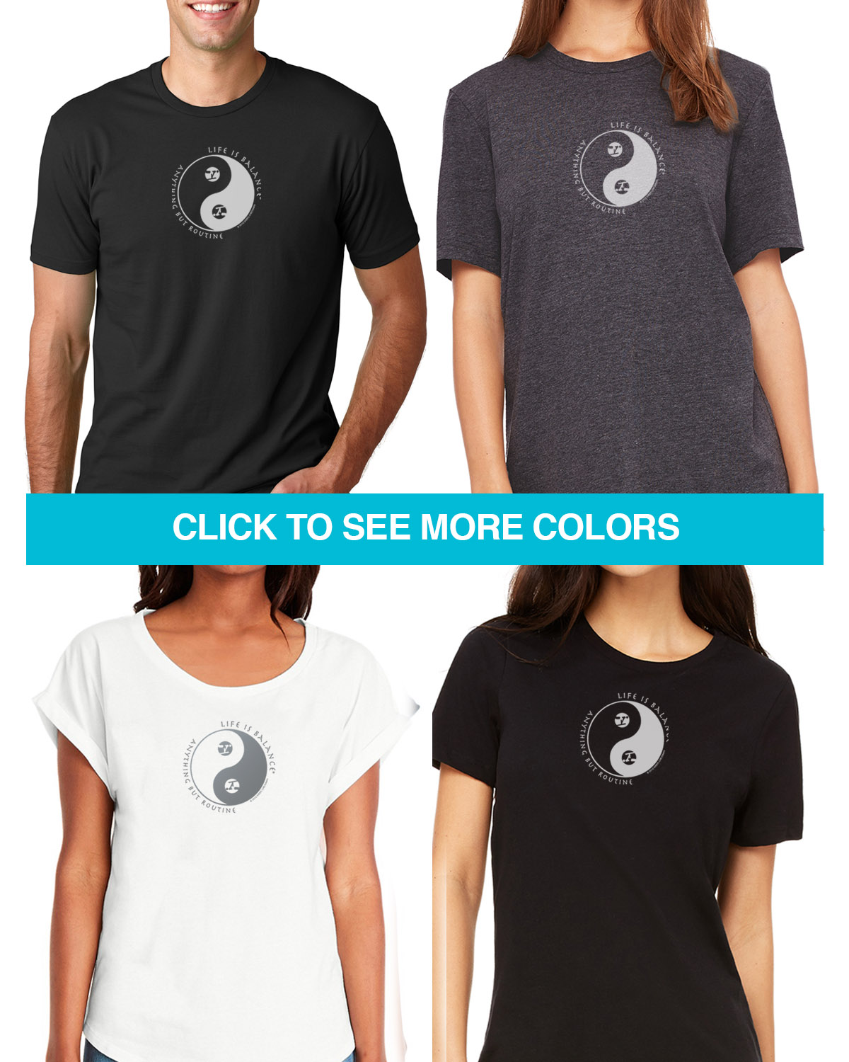 Gymnastics Tees for Men & Women