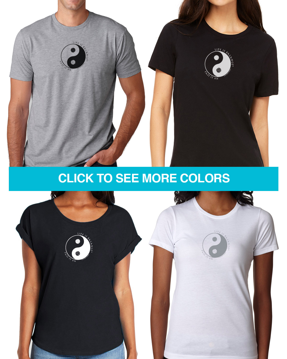 Volleyball Tees for Men & Women