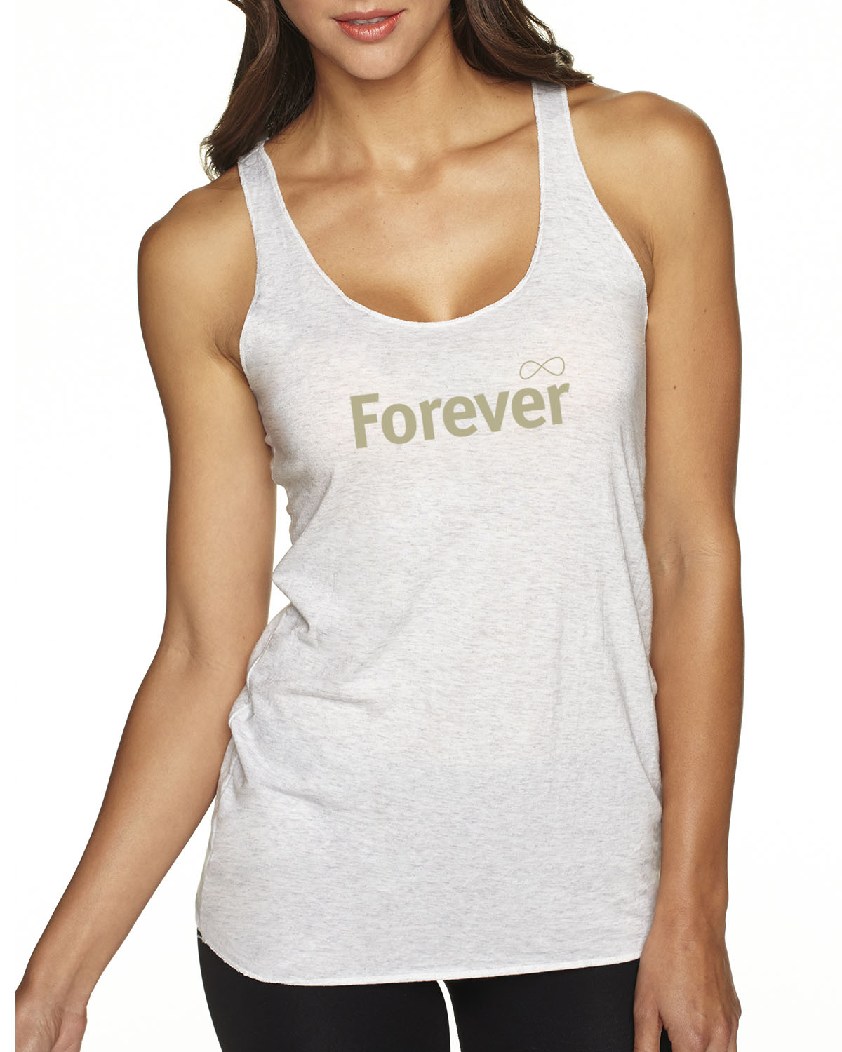 Inspirational racer-back volleyball tank top for women (Heather Gray)
