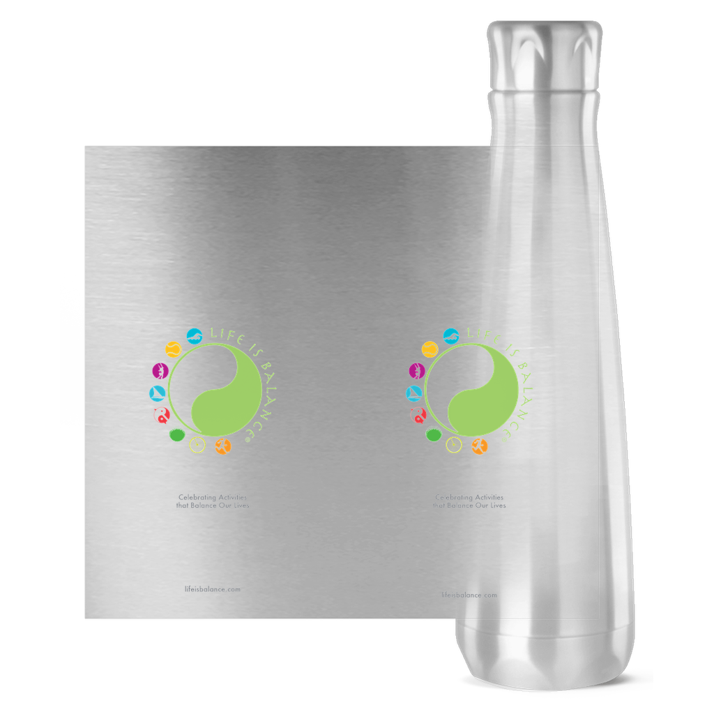 !6 oz Stainless steel water bottle (stainless)